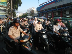 Motorbikes in Saigon